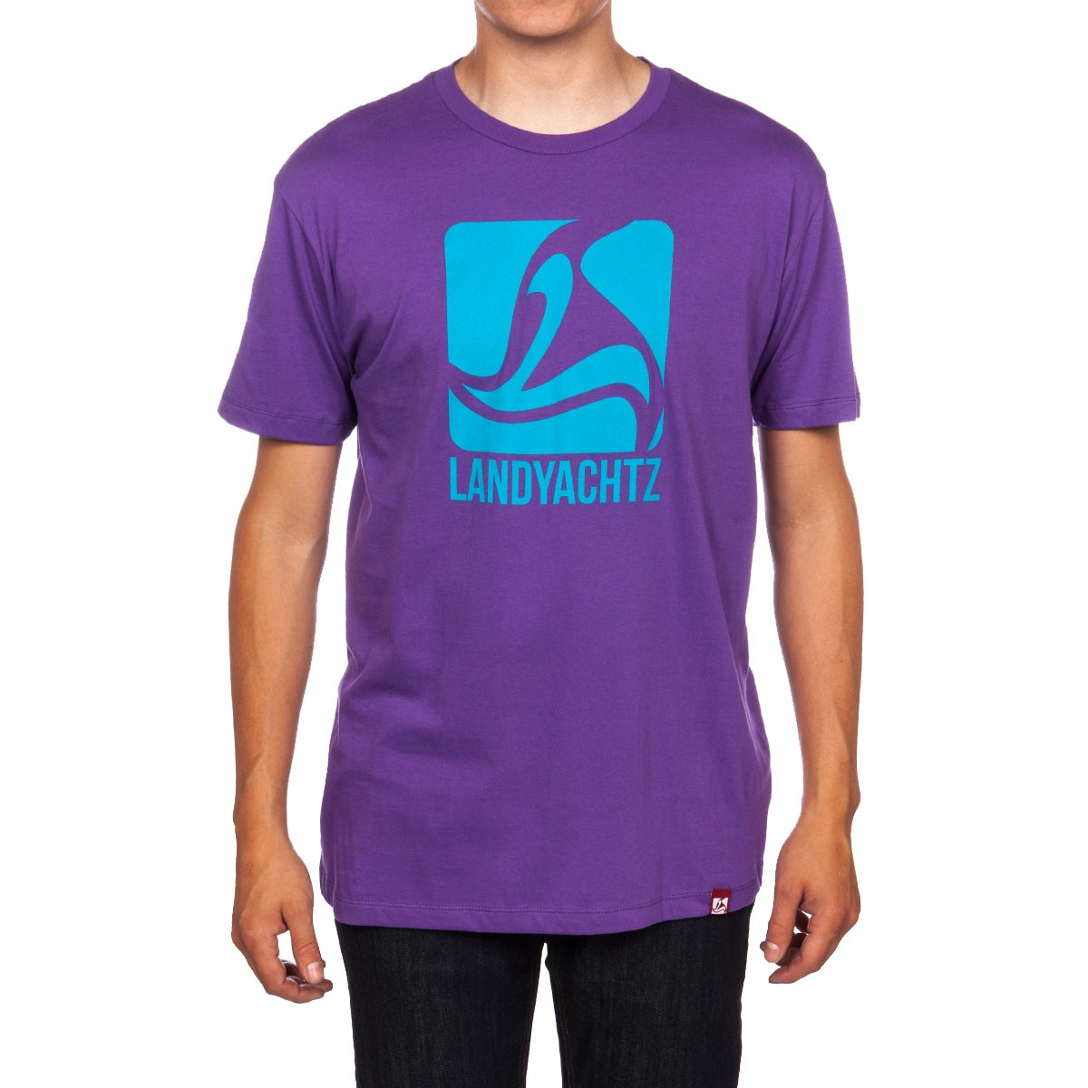 Landyachtz Square Logo T-Shirt - Purple/Blue