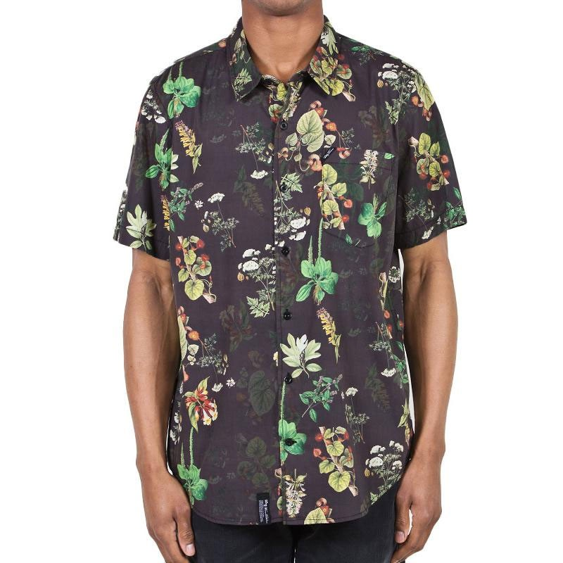 LRG Botanist Short Sleeve Shirt - Black