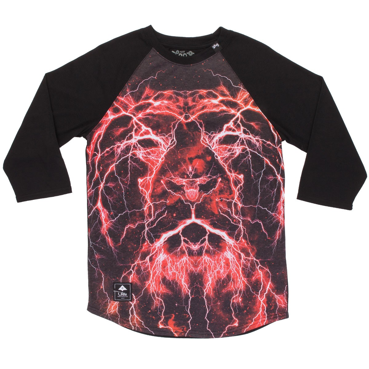 LRG Lion Shocker Raglan Shirt - Black