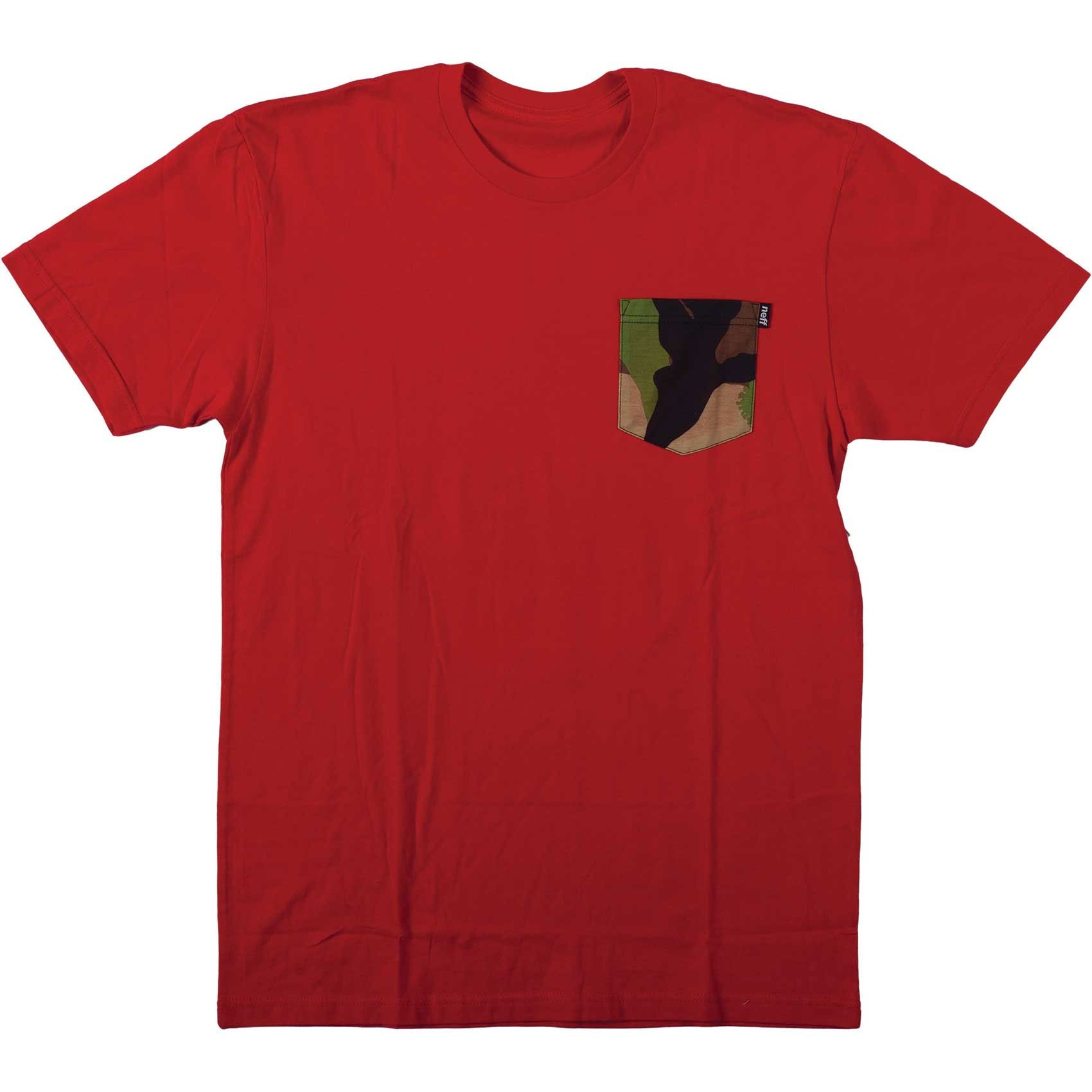 Neff Nifty Premium Pocket T-Shirt - Red Heather/Camo