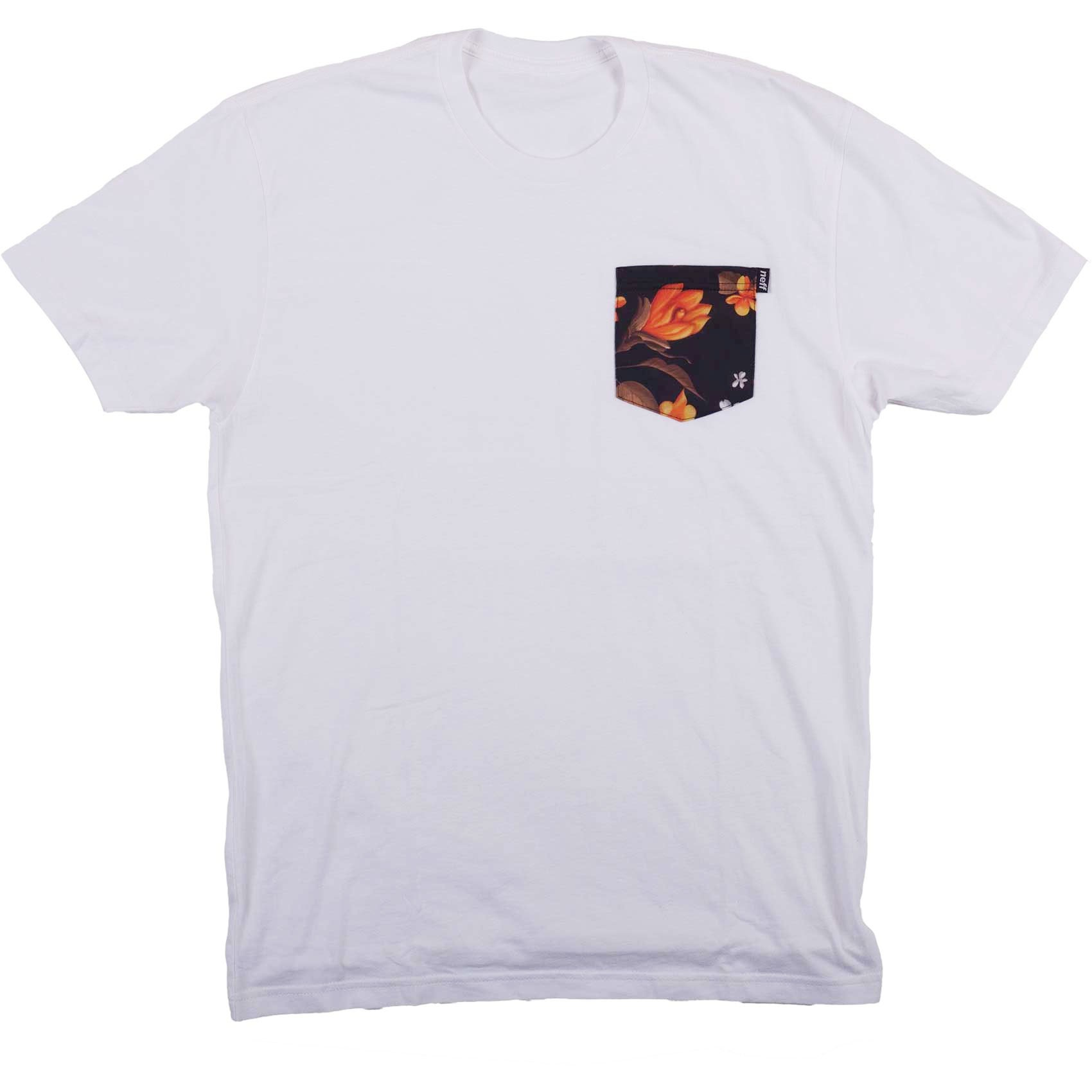 Neff Nifty Premium Pocket T-Shirt - White/Commando