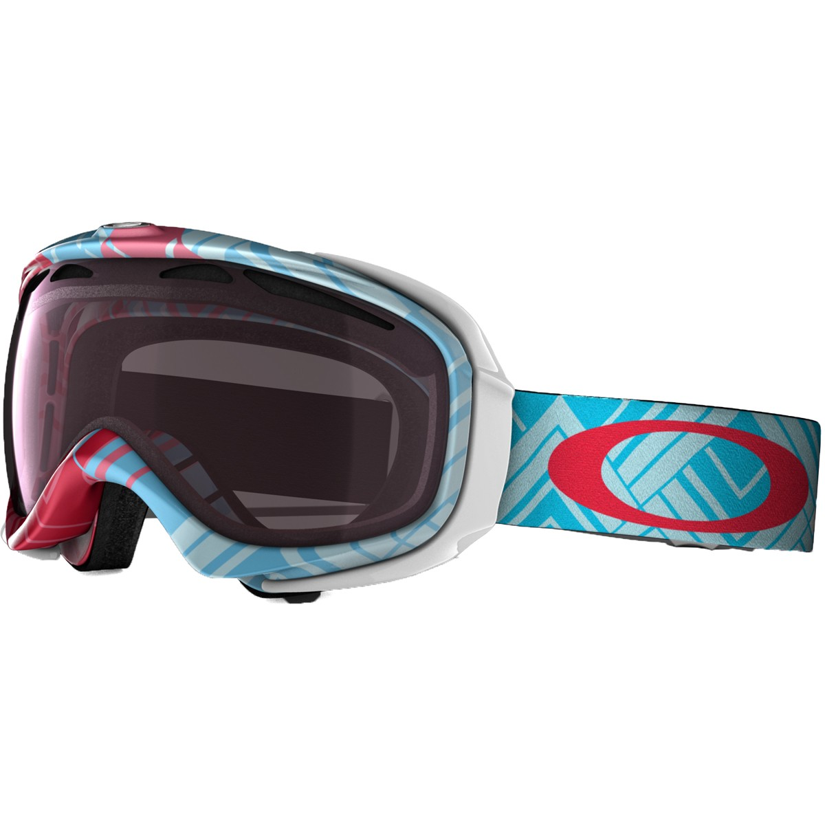 Oakley Elevate Snowboard Goggles 2015 - Braided Blue Red - Rose