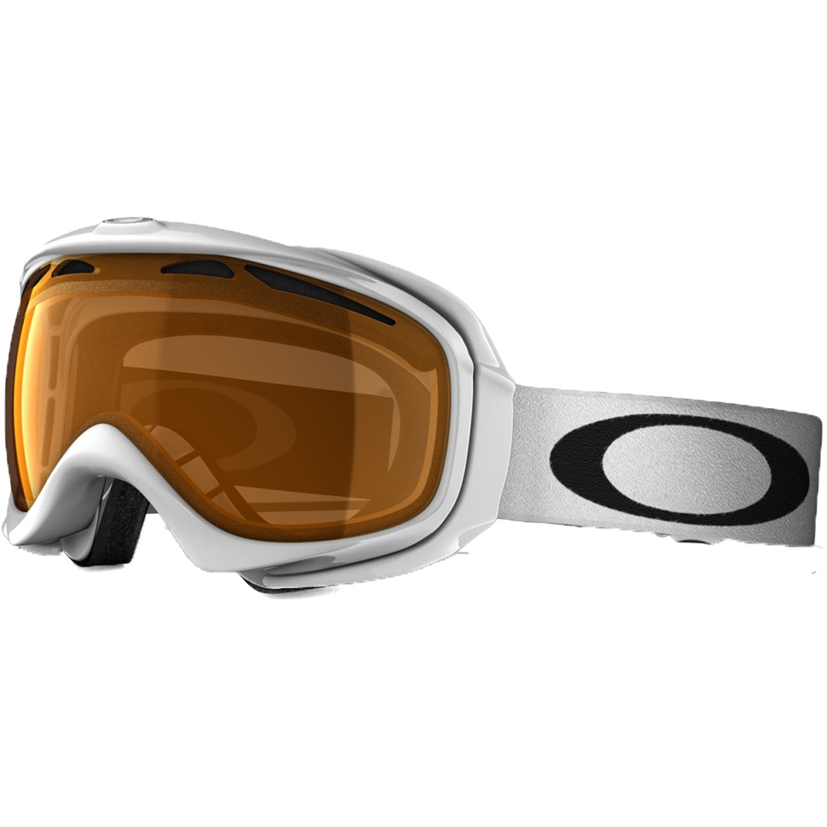 Oakley Elevate Snowboard Goggles 2015 - Polished White - Persimmon