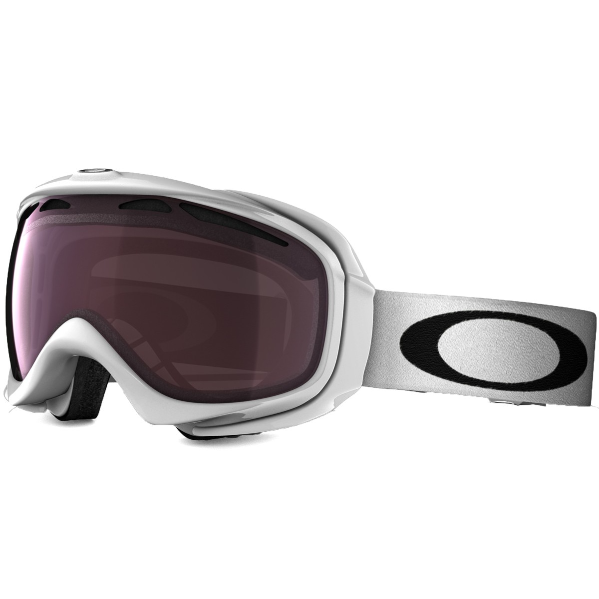 Oakley Elevate Snowboard Goggles 2015 - Polished White - Prizm Rose
