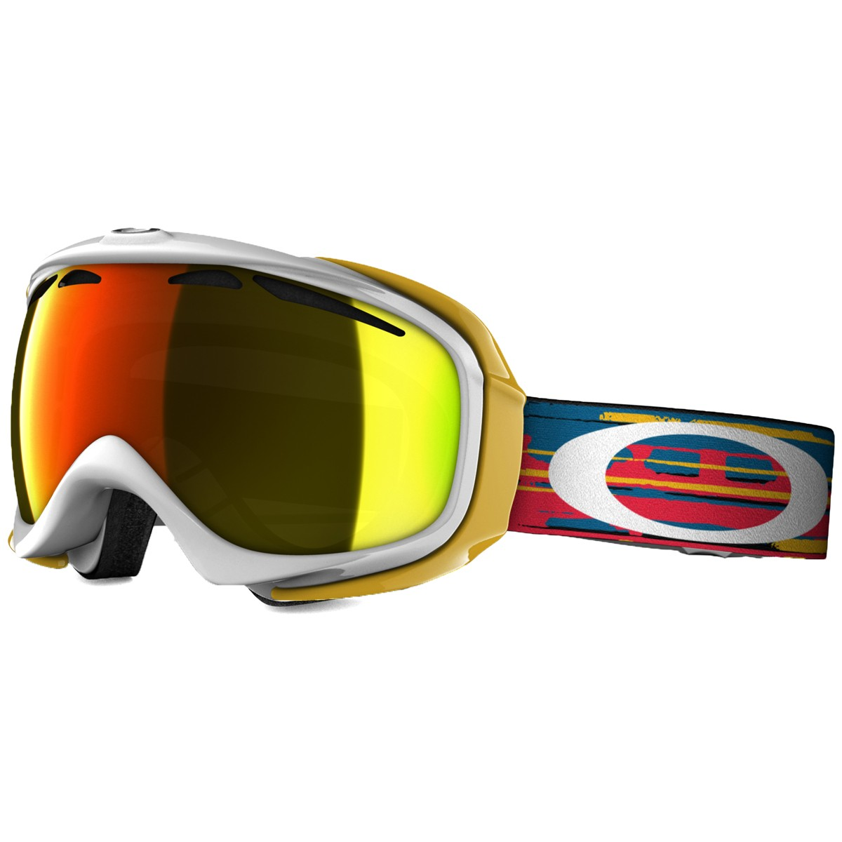 Oakley Elevate Snowboard Goggles 2015 - Ripped n Torn White - Fire Iridium