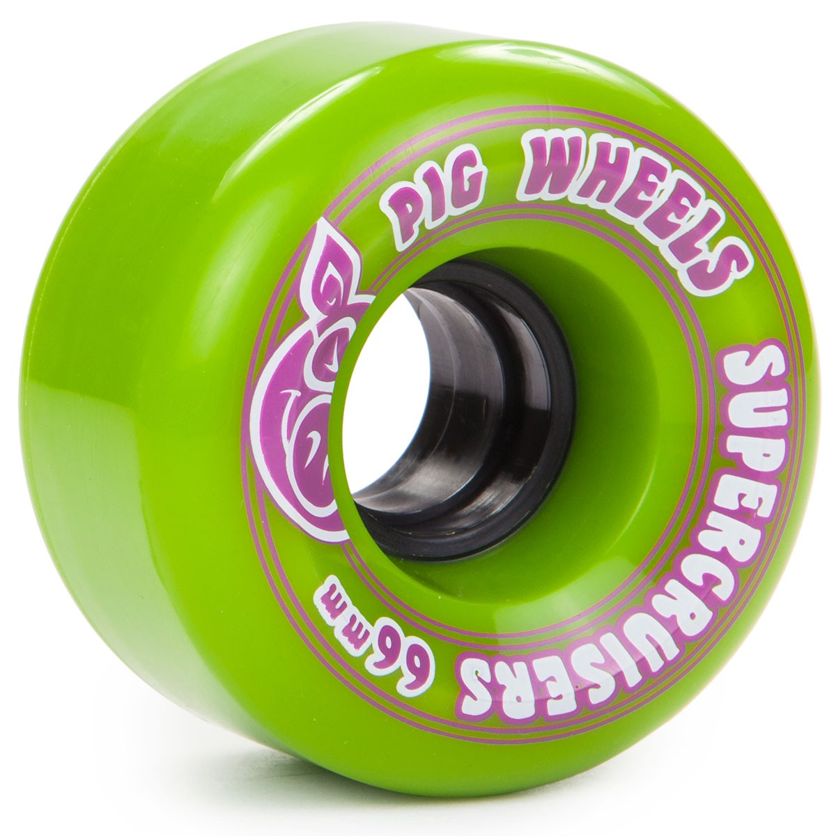 Pig SuperCruiser II Skateboard Wheels - Green - 66mm 85a