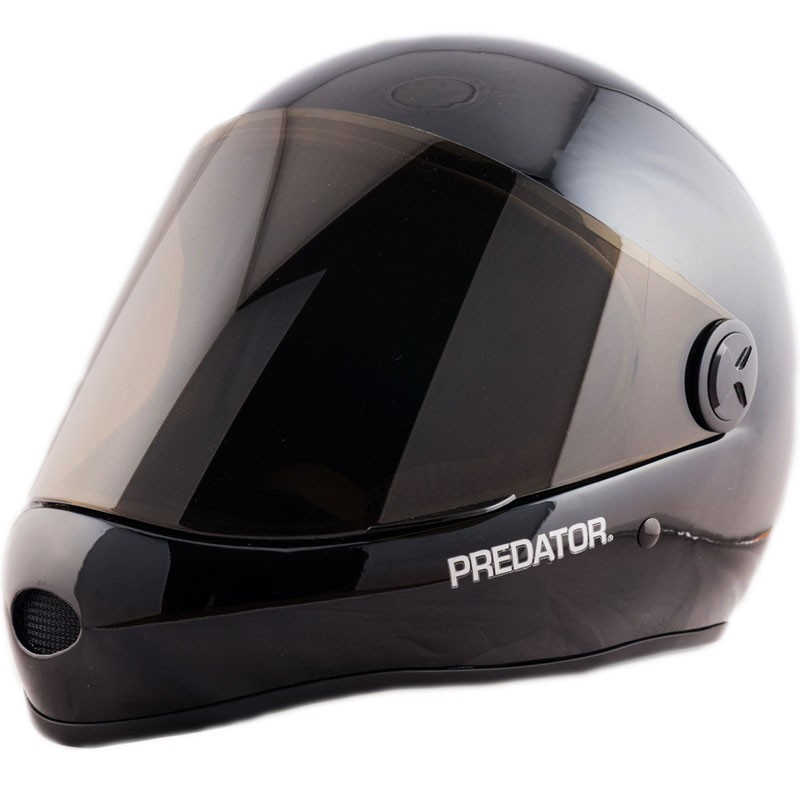 Predator DH6 Full Face Race Helmet - Gloss Black/Black