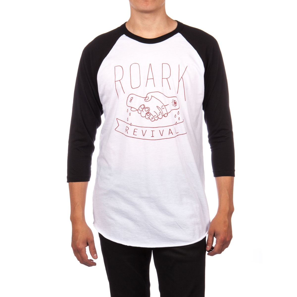 Roark Secret Handshake Raglan T-Shirt - Black