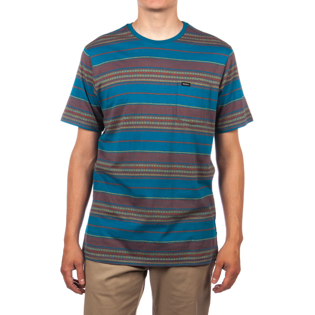 RVCA Canyon Stripe Crew Shirt - Saxon