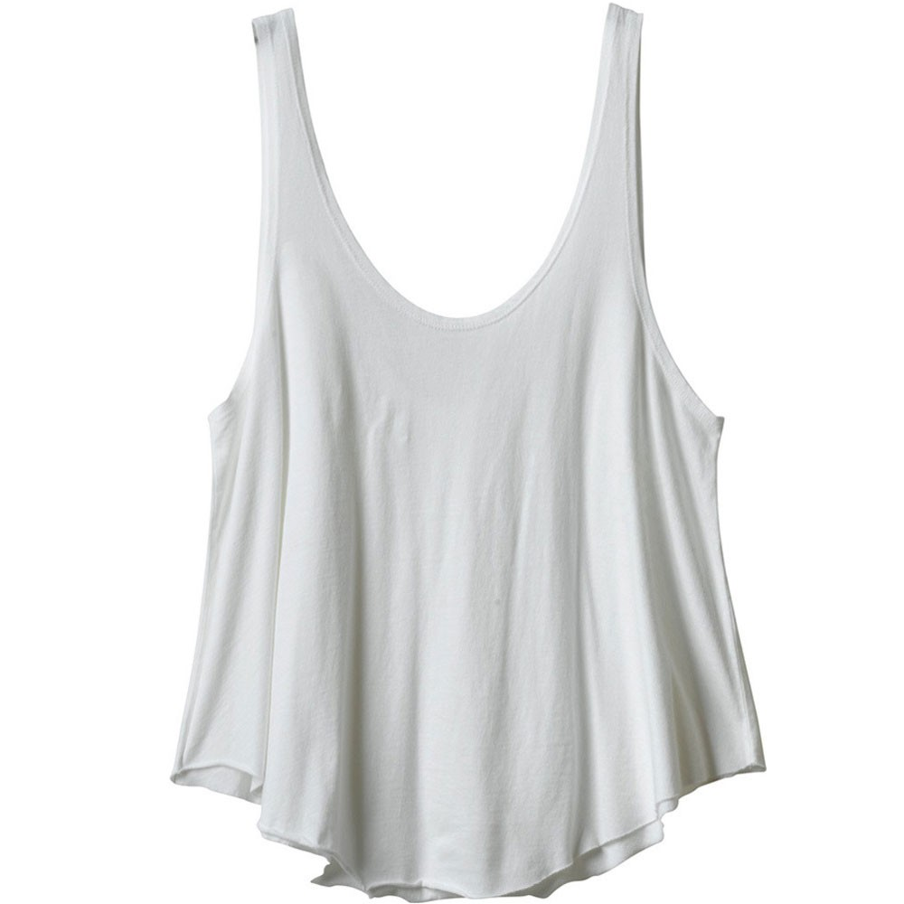 RVCA Label Drape Tank Top - Vintage White