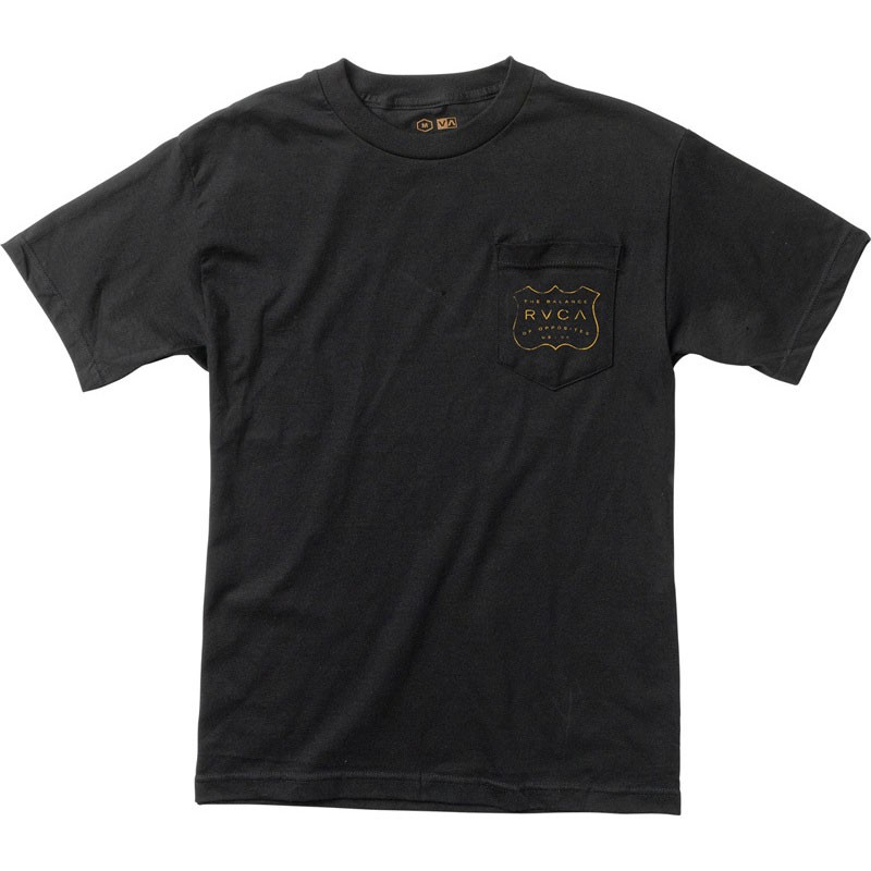 RVCA USVA Pocket T-Shirt - Black