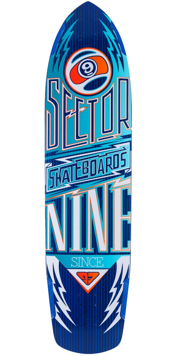 Sector 9 Carbon Flight Longboard Skateboard Deck - Blue