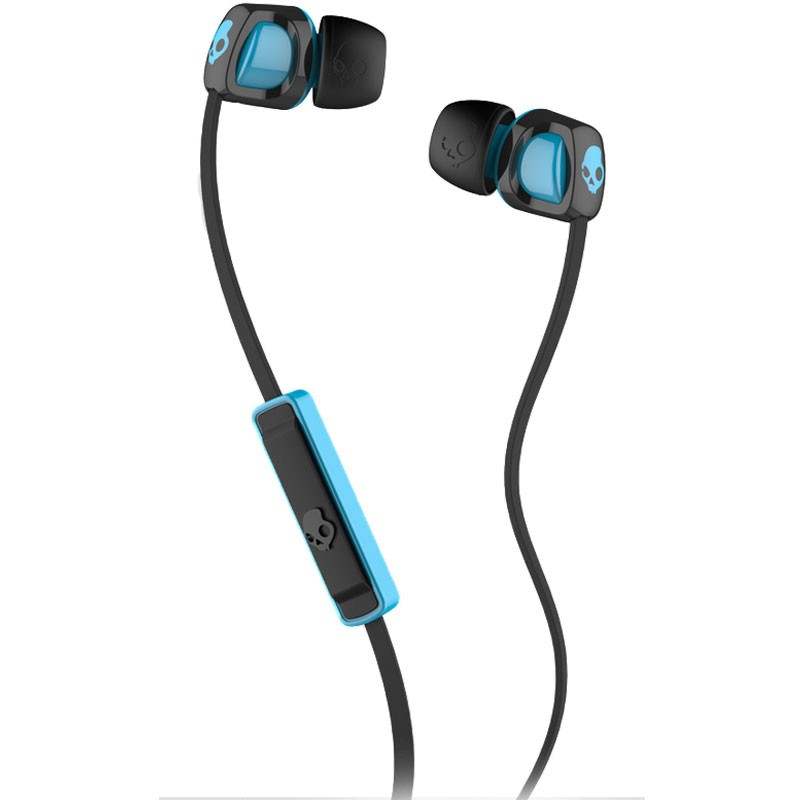 Skullcandy Smokin Buds 2 Mic1 Headphones -Black / Hot Blue / Hot Blue