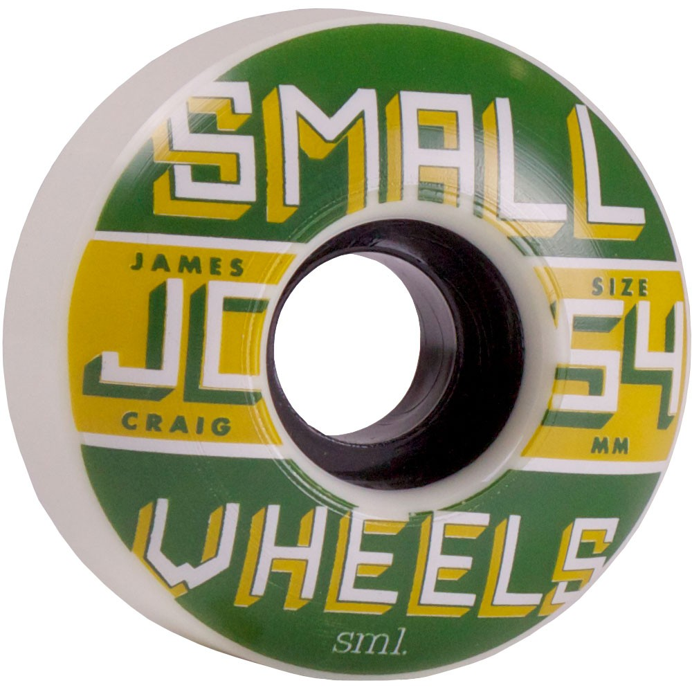 SML James Craig Pro Skateboard Wheels 54mm - White