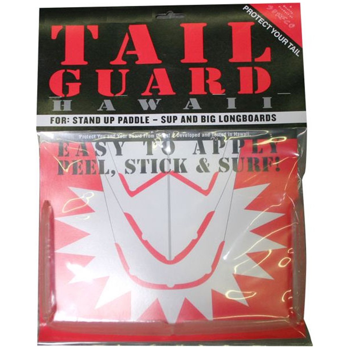 Surfco Hawaii Tail Guard - Works On Most Longboards - Clear