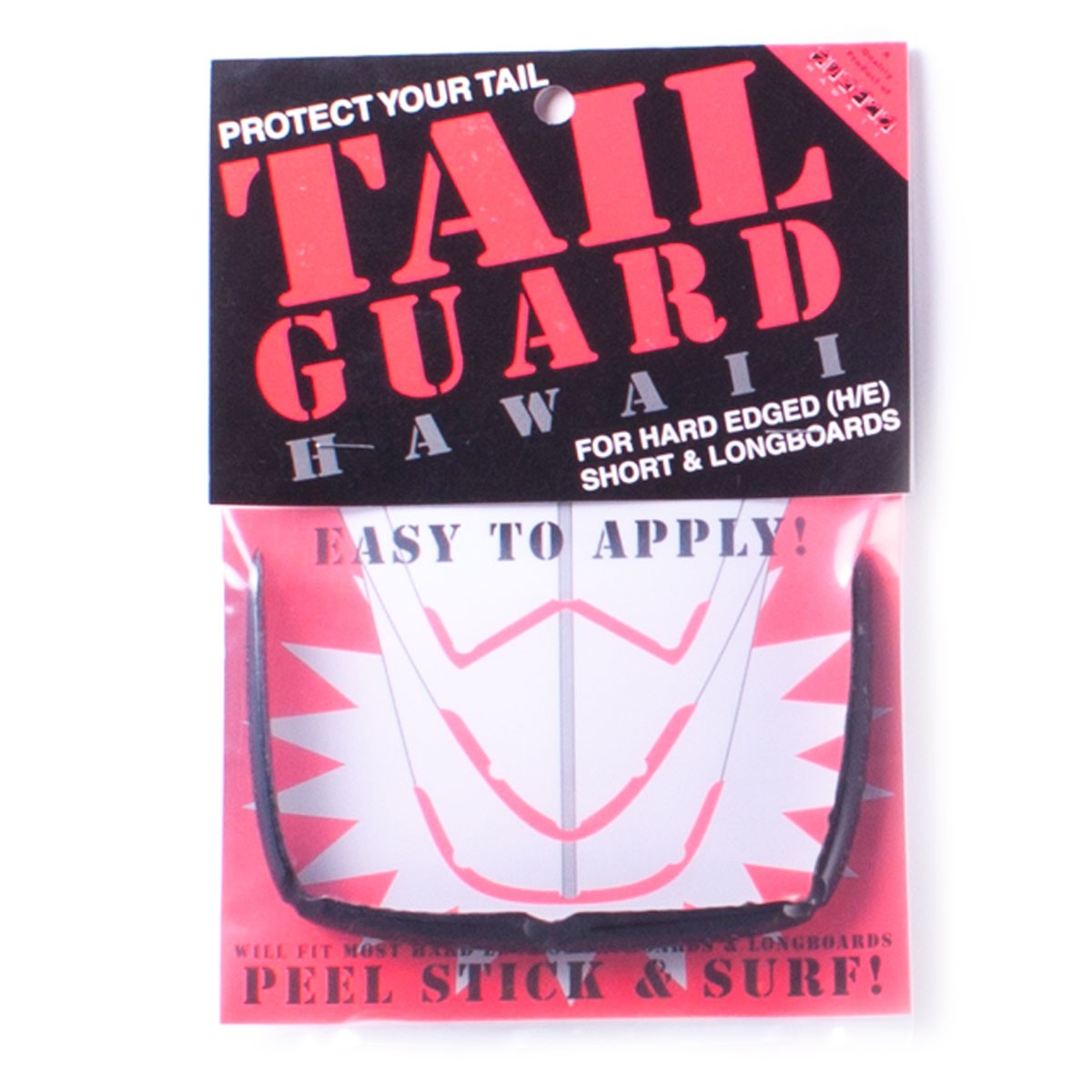 Surfco Hawaii Tail Guard - Works On Most Longboards - Black