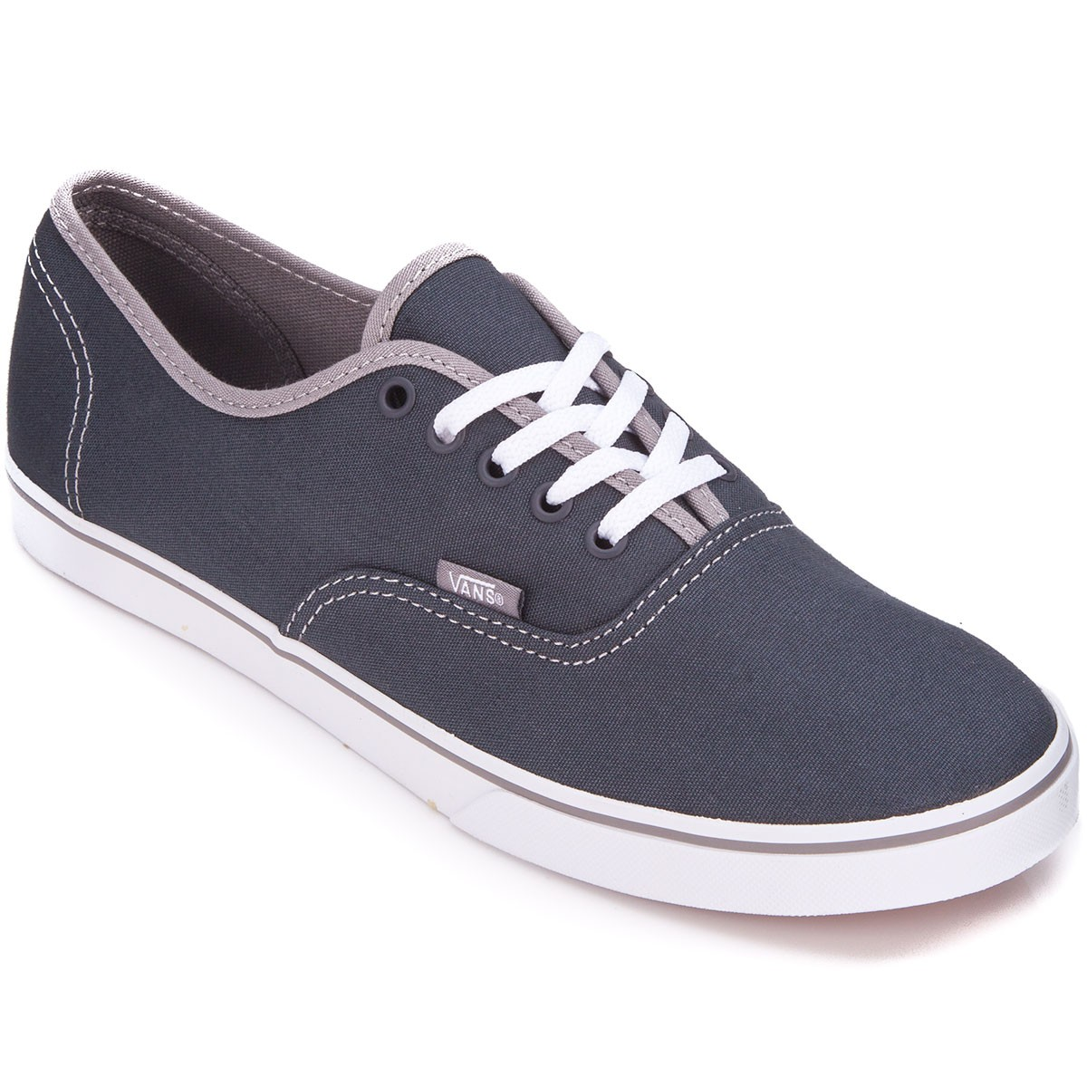 Vans Authentic Lo Pro Womens Shoes - Pop Ebony/Frost Grey - 5.0