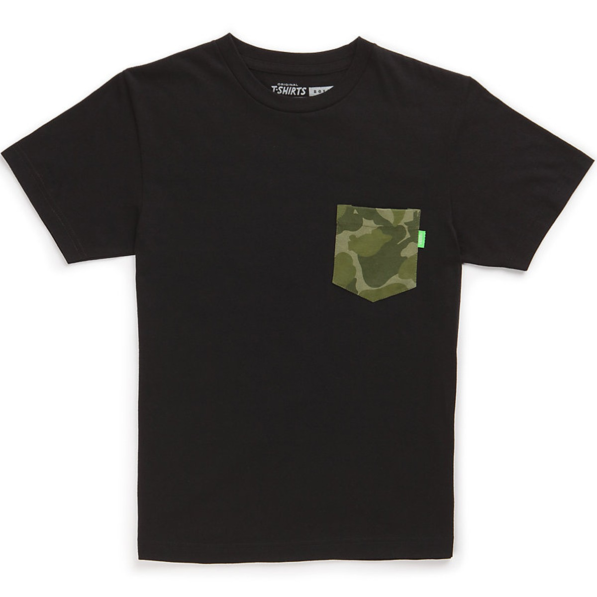 Vans Camo Pocket Boys T-Shirt - Black