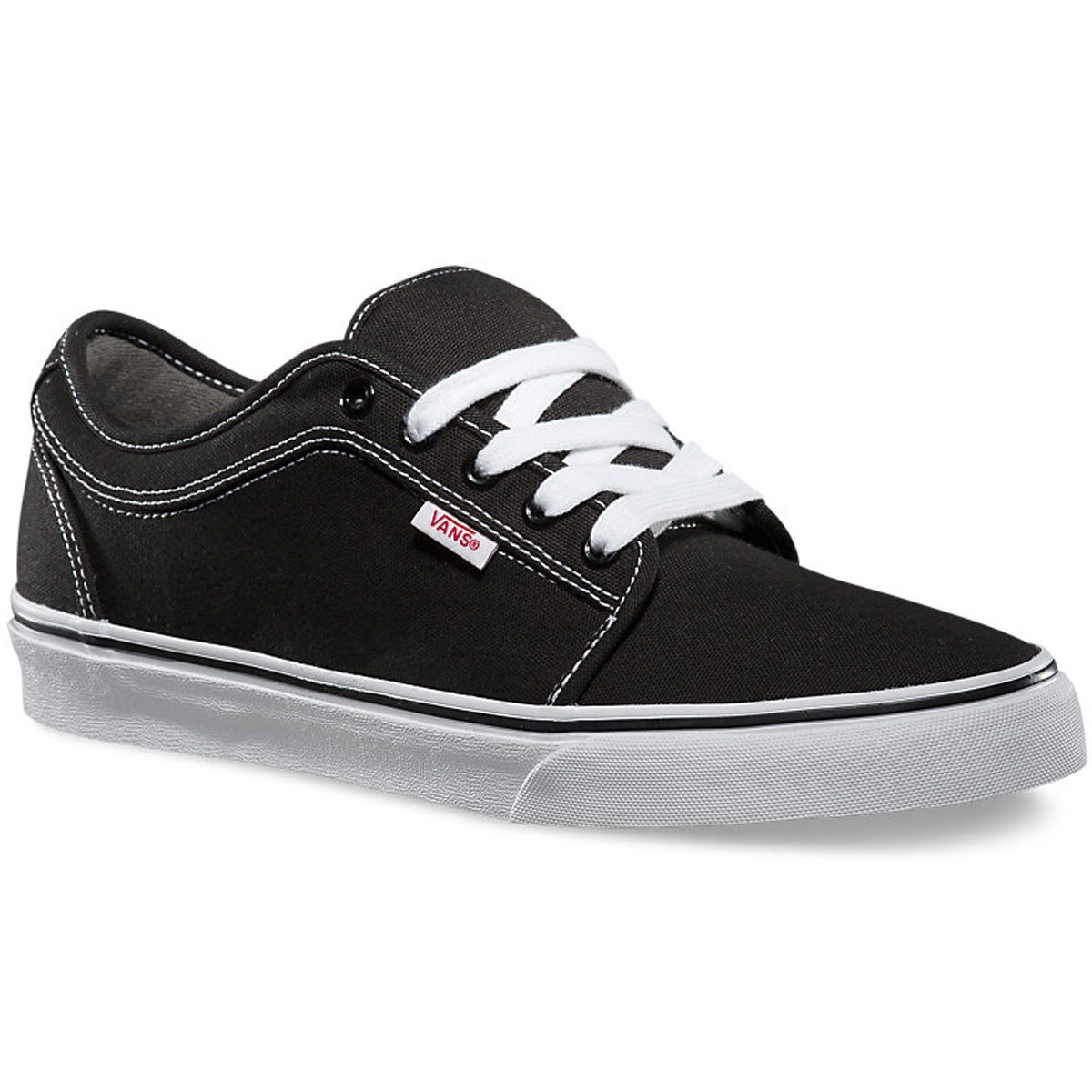 Vans Chukka Low Shoes - Black/White - 10.0