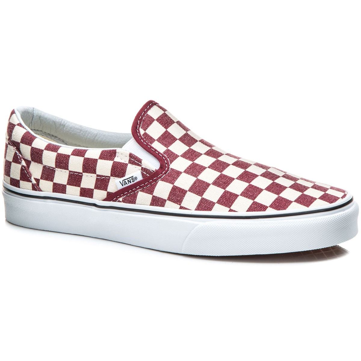 Vans Classic Slip-On Shoes - Checkerboard/Rhubarb/White - 8.0