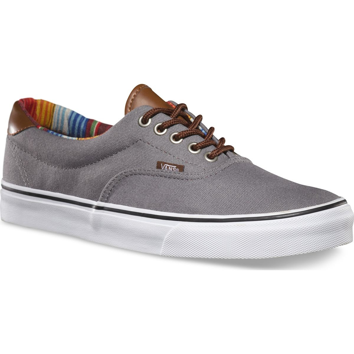 Vans C&L ERA 59 Shoes - Steel Gray/Multi Stripe - 8.0