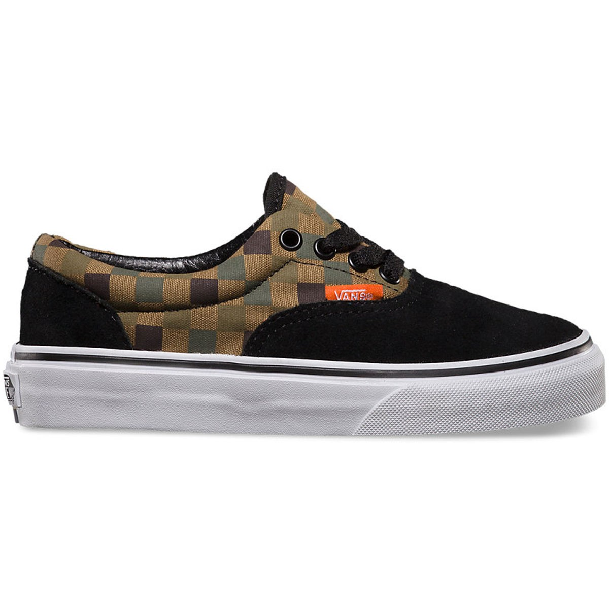 Vans Checkerboard Era Youth Shoes - Black Military Olive - 4.0 dfcbd8c9f