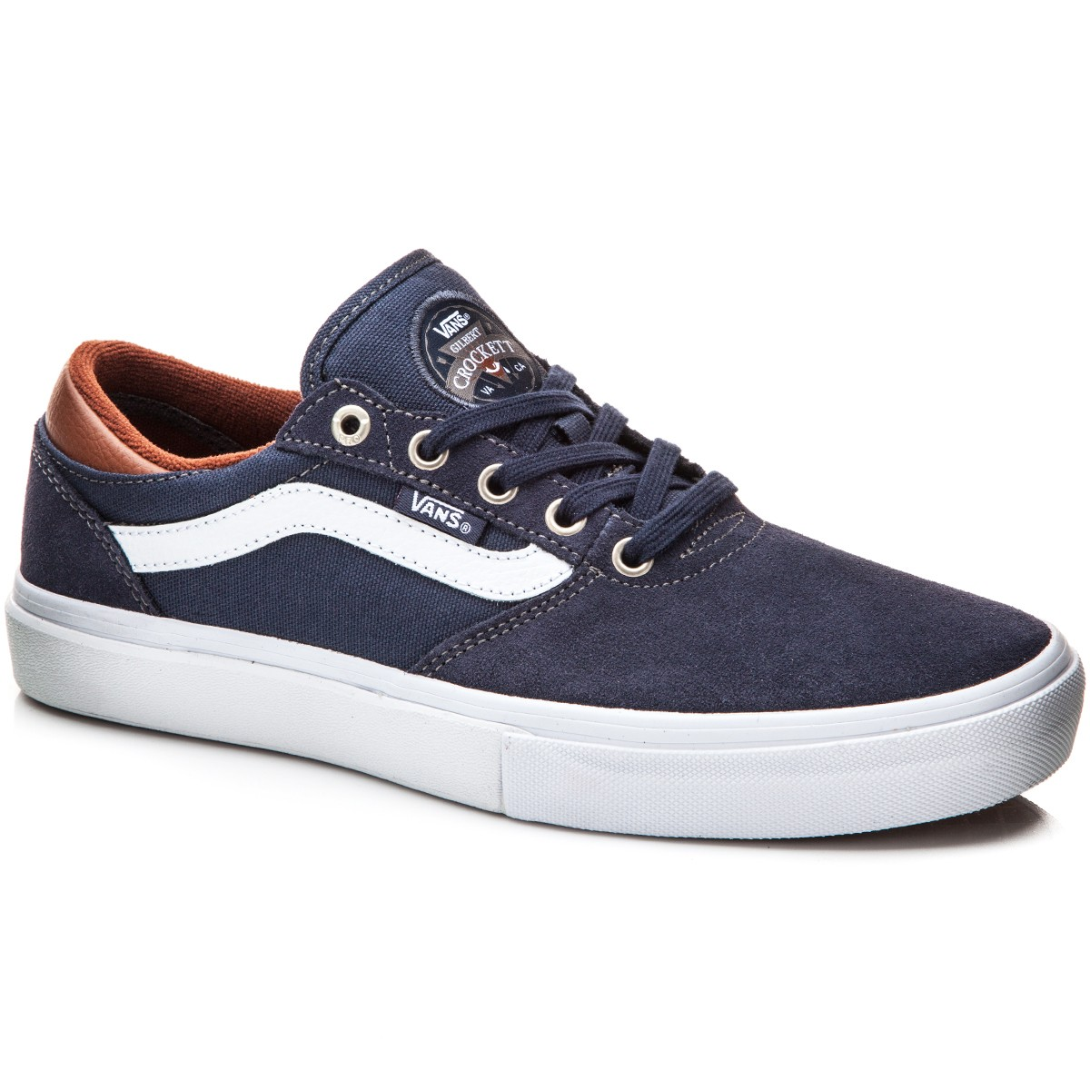 Vans Gilbert Crockett Pro Shoes - Navy/White/Leather - 10.0