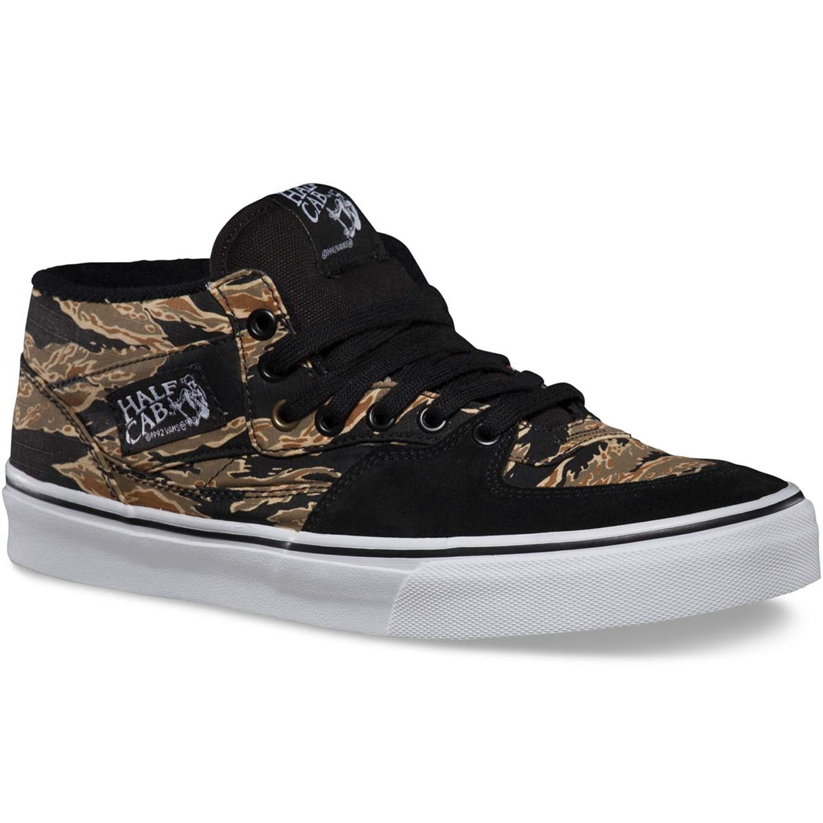 Vans Tiger Camo Half Cab Shoes - Black - 11.0