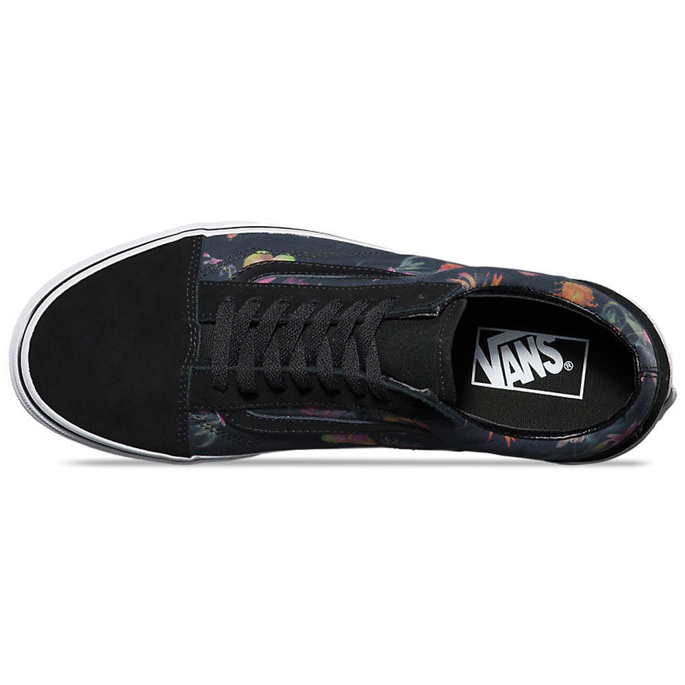 vans old skool black bloom