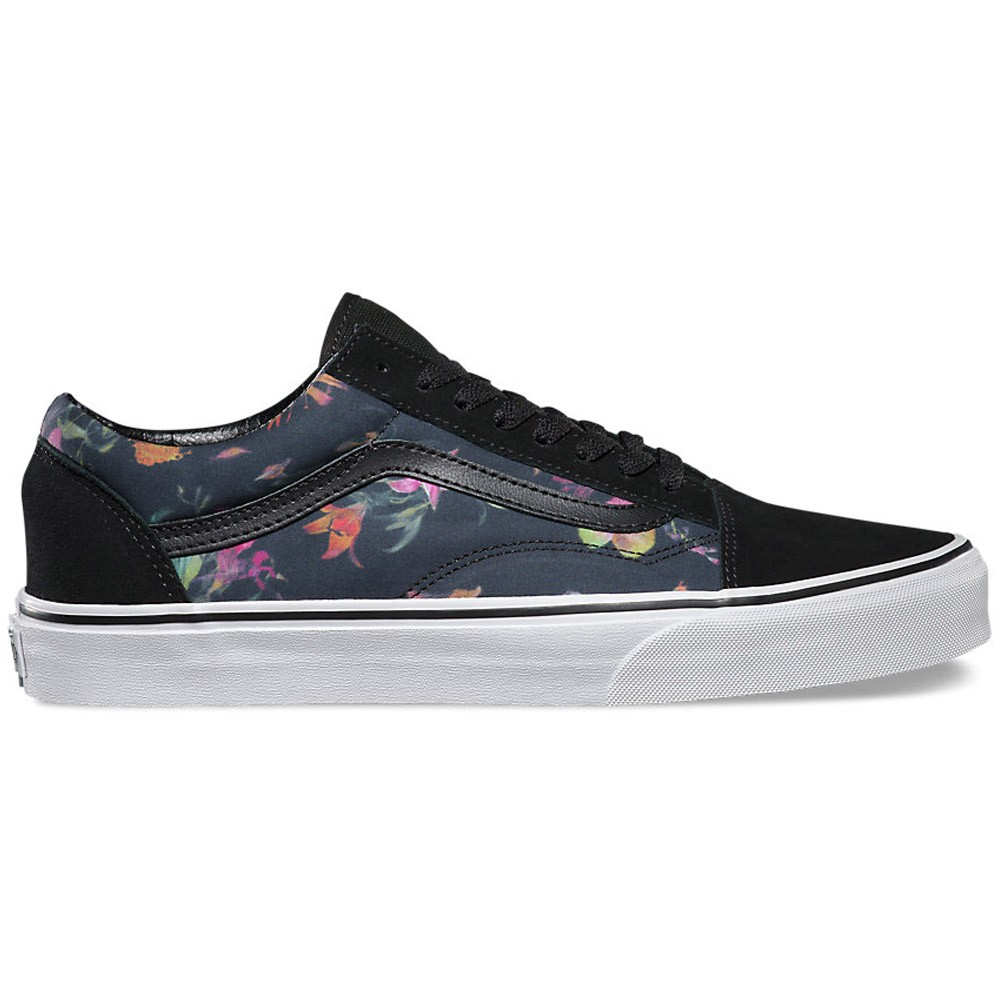 vans old skool black bloom shoes. Black Bedroom Furniture Sets. Home Design Ideas