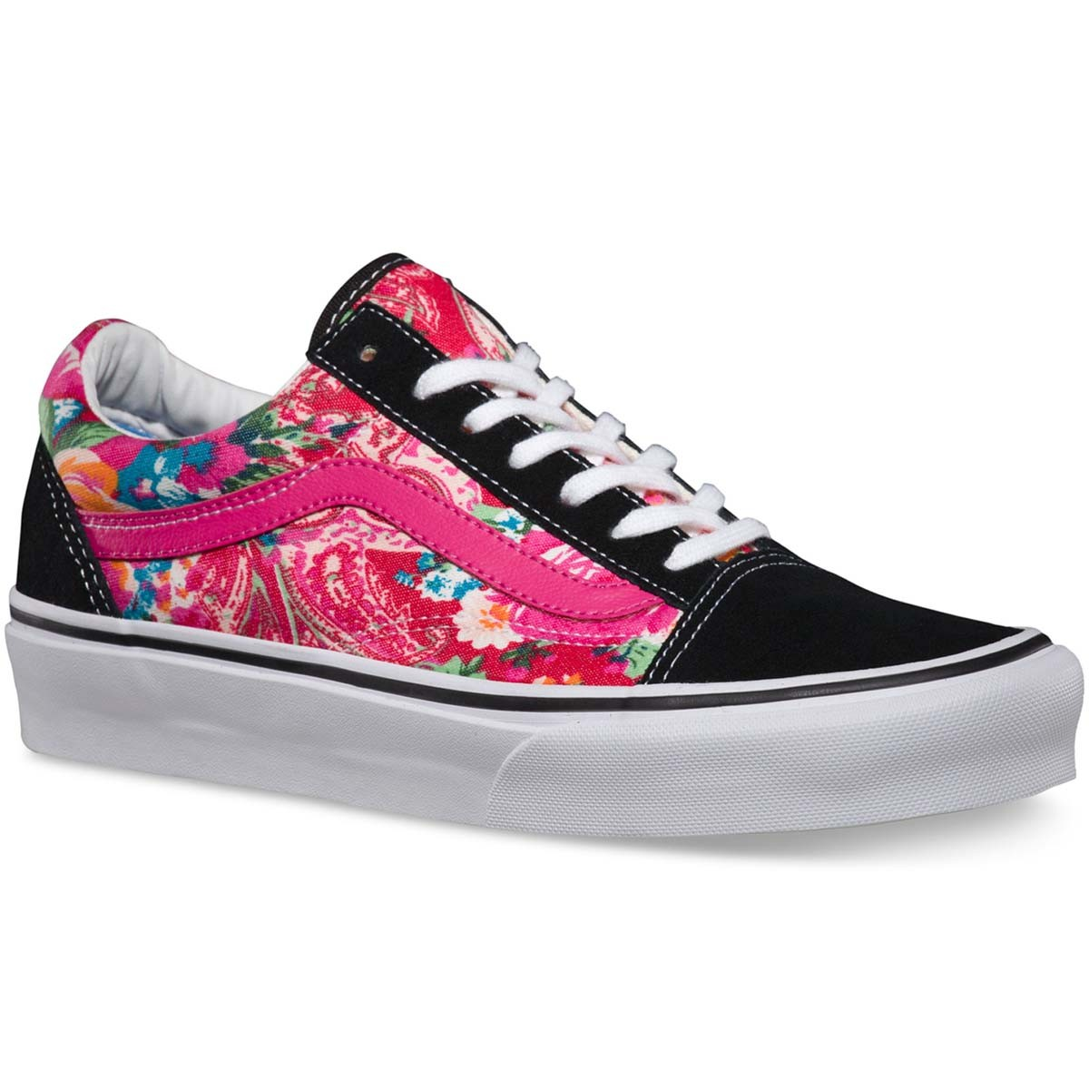 Vans multi floral old skool core classics shoes for Old skool house classics