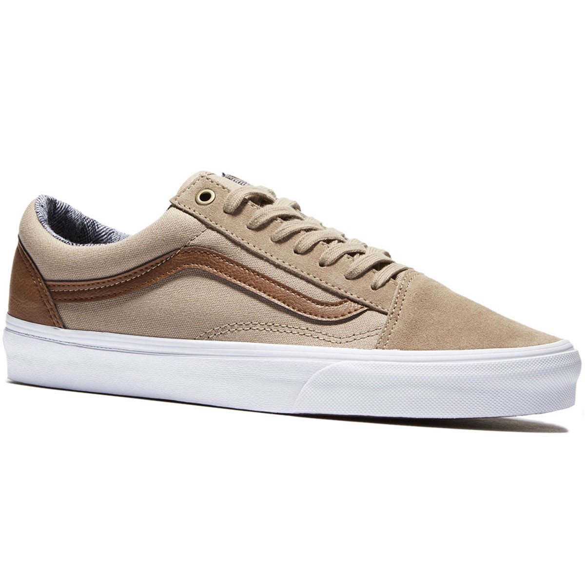 Vans Old Skool Shoes - Silver/Mink/True White - 8.0