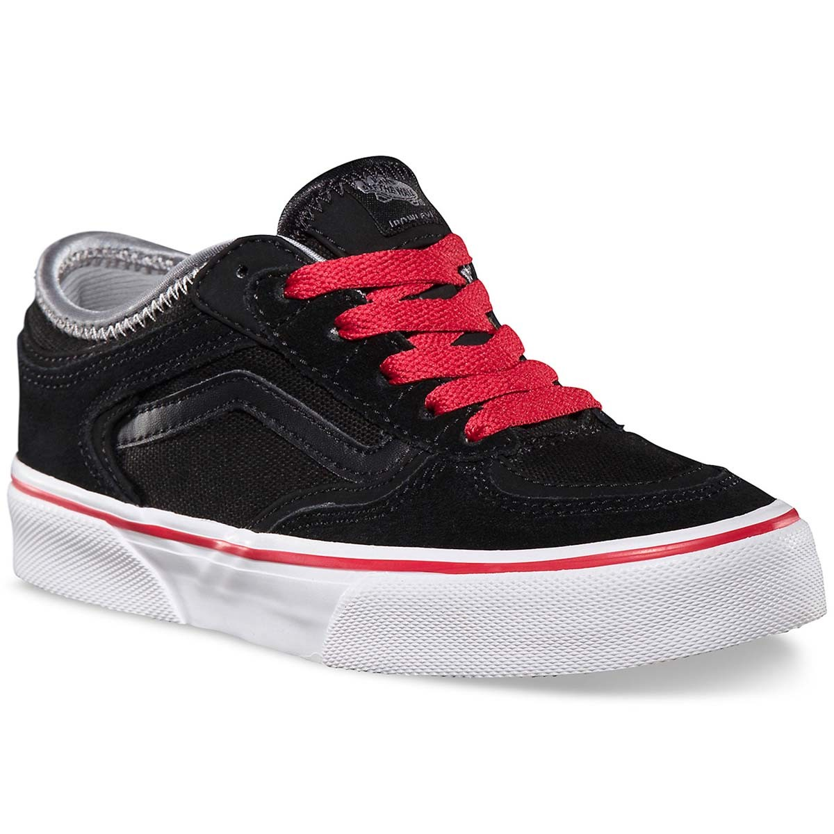 Vans Geoff Rowley Pro Youth Shoes - Black/Black/Red - 4.0
