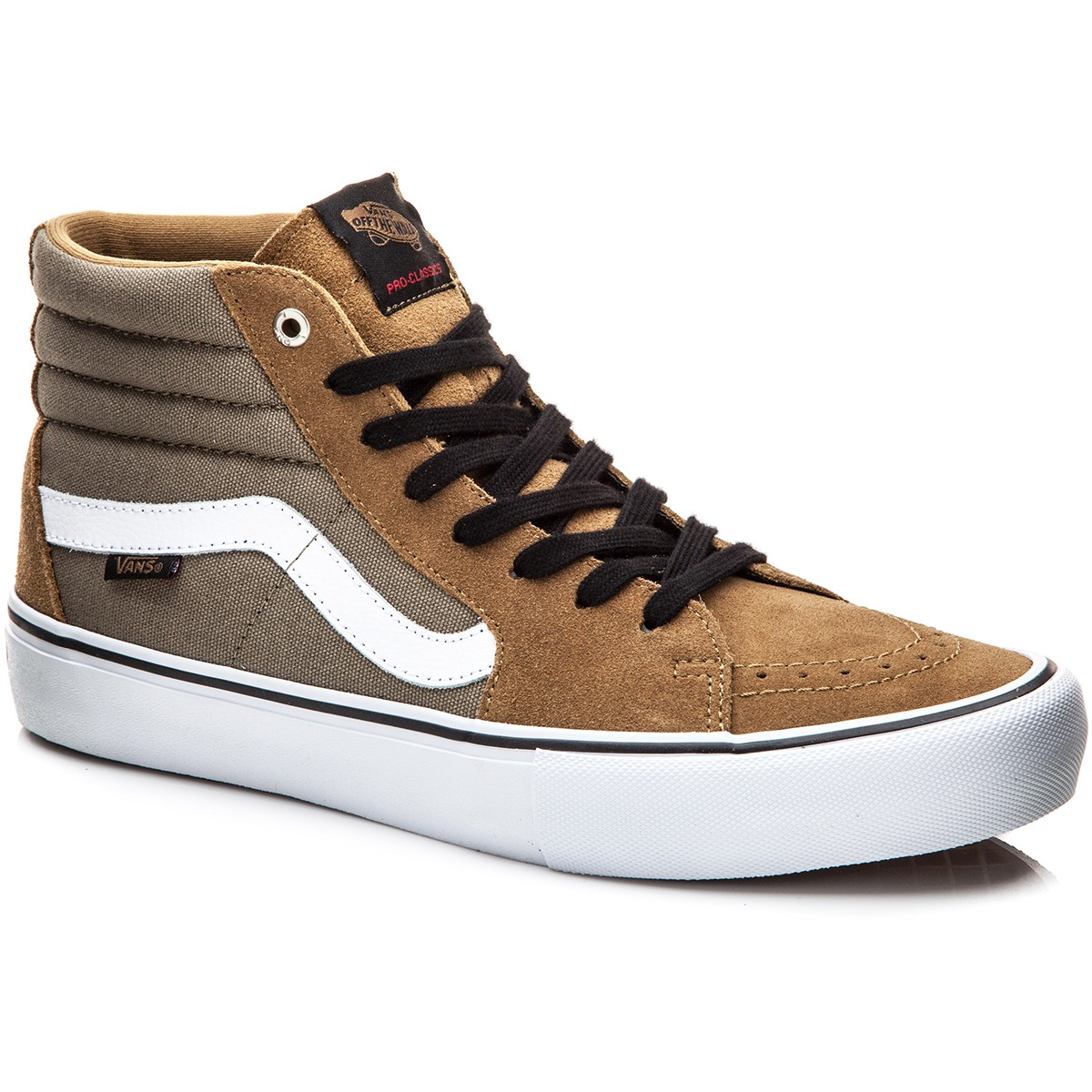 Vans Sk8-Hi Pro Shoes - Covert Green/White - 8.0