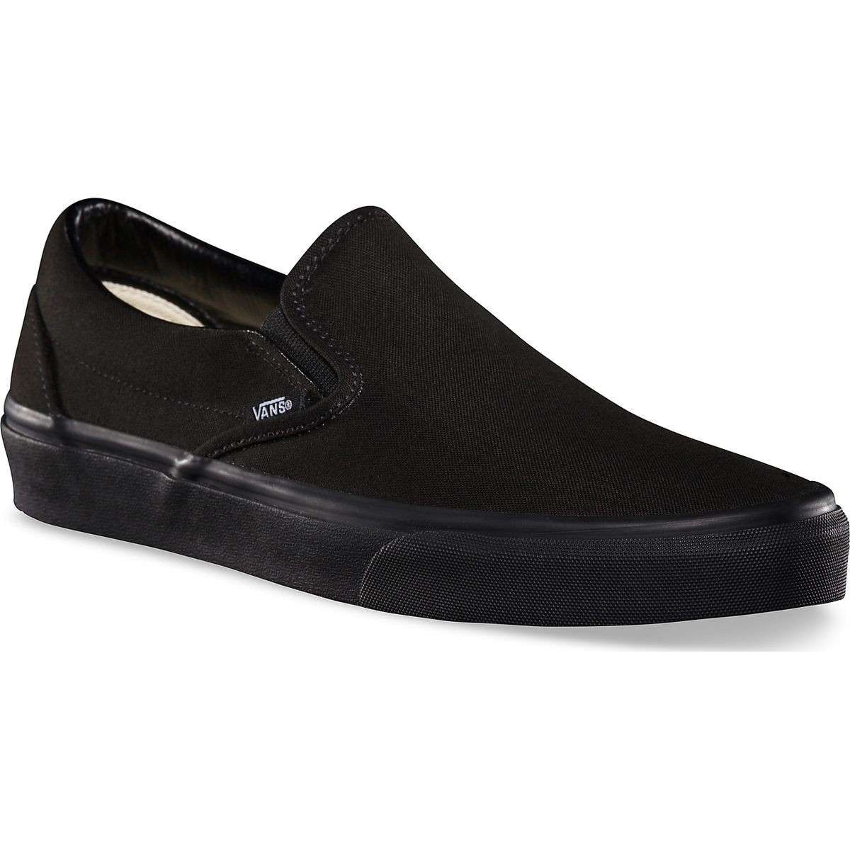 Vans Classic Slip On Youth Shoes - Black/Black - 5.0