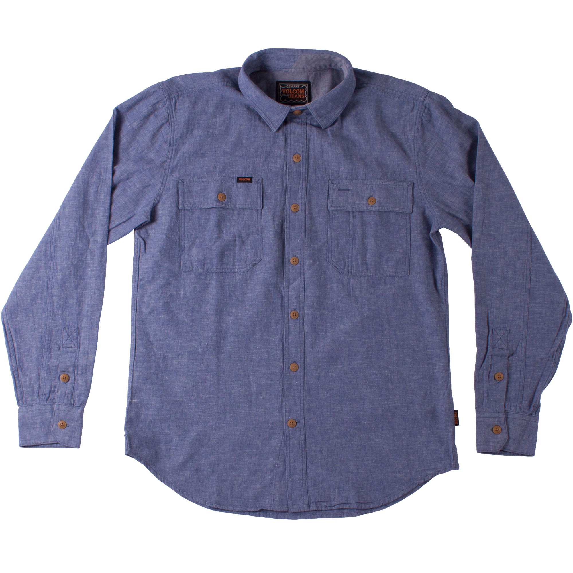 Volcom Cruzer Long Sleeve Shirt - Stormy Blue