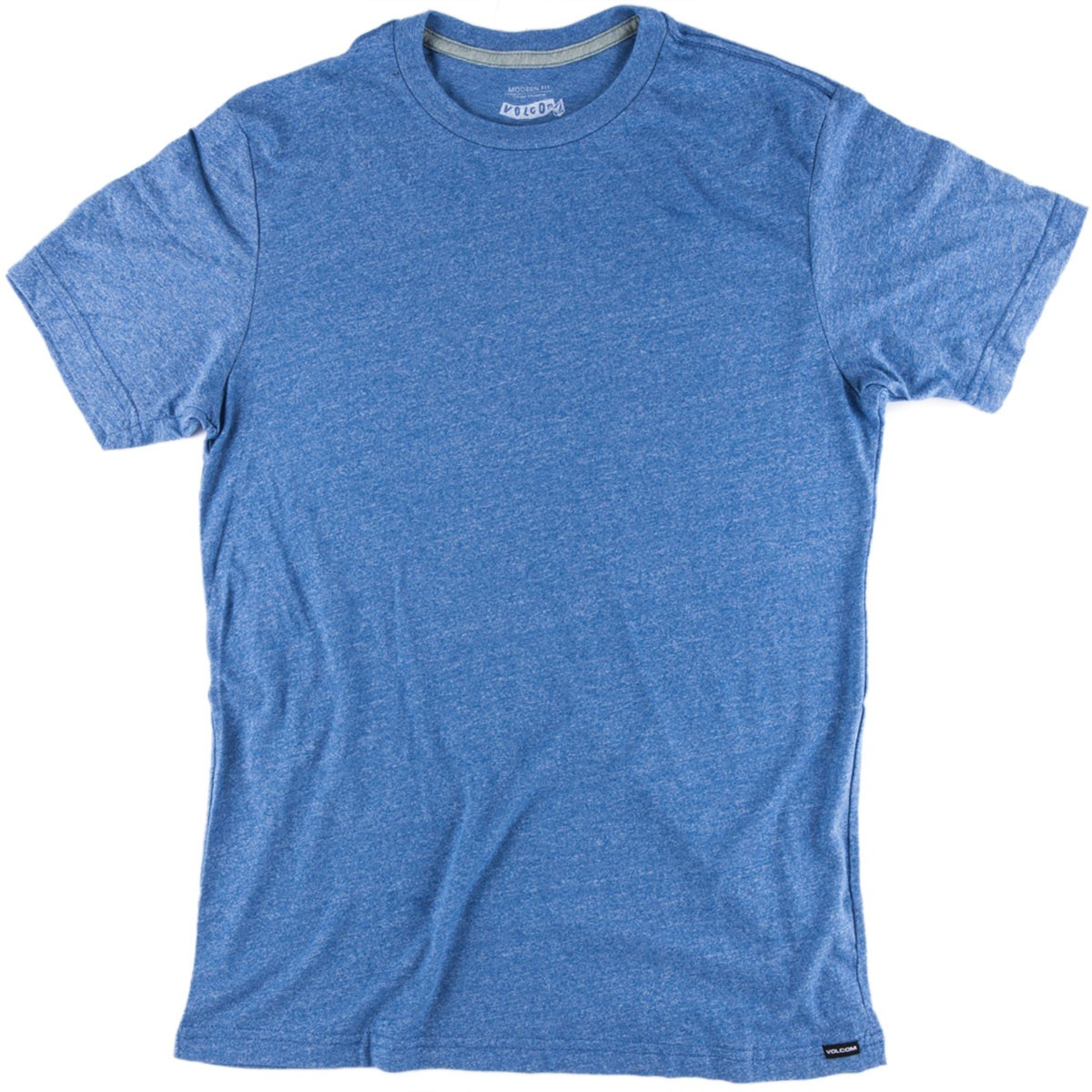 Volcom Mock Twist T-Shirt - Airforce Blue Heather