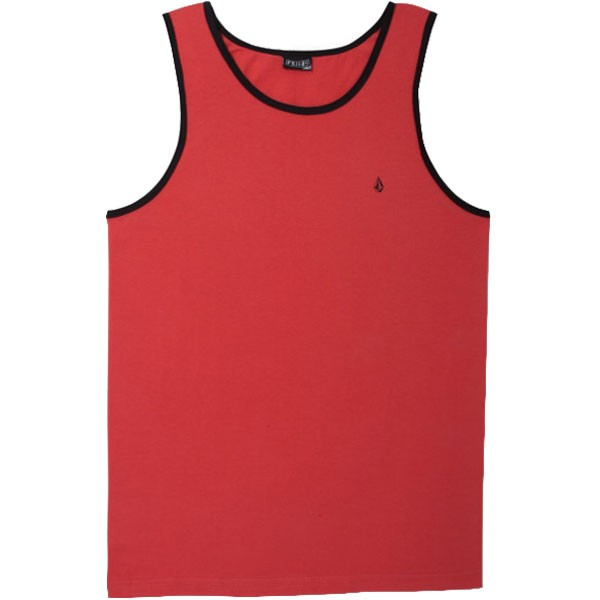 Volcom Standard Staple Tank - Red
