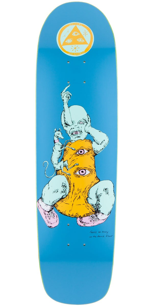"""Welcome Baby On Waxing Moon Skateboard Deck - Blue - 8.50"""""""