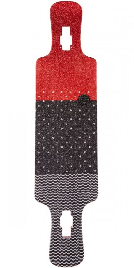 Globe Geminon Kick Longboard Deck - Red/Dot Wave