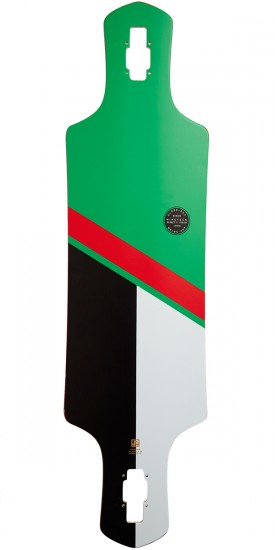 Globe Geminon Longboard Deck - Green/Red