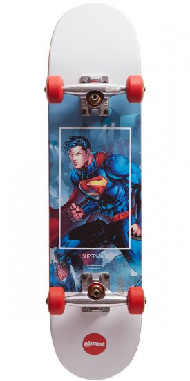 Almost Superman Fight Club Youth Skateboard Complete - Red - 7.0
