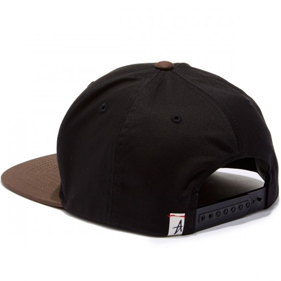 Altamont Decades Snapback Hat - Black/Brown