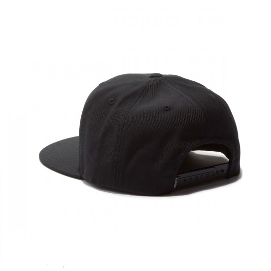 Supra Icon Snap Hat - Black