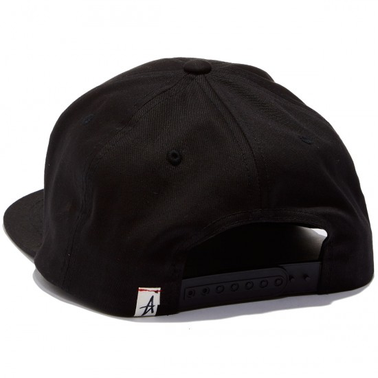 Altamont Decades Snapback Hat - Black/White