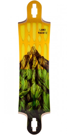 Landyachtz Hollowtech Switchblade 40 Mountain Yellow Longboard Deck