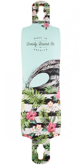 "Gravity 41"" Double Drop Aloha Spirit Longboard Deck"