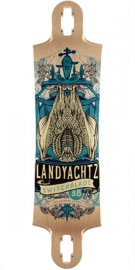 "Landyachtz Switchblade 38"" Longboard Deck - Bat Chimera - Natural Maple"