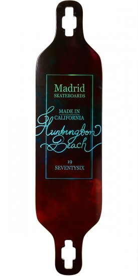"Madrid Dream 39"" Drop-Thru Longboard Deck - Vino"