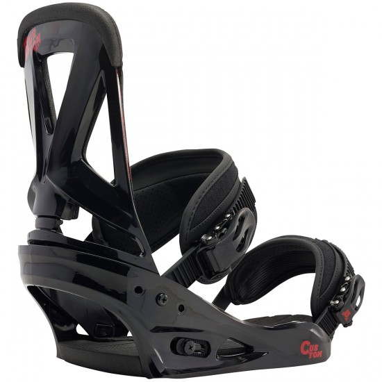 Burton Custom Snowboard Bindings 2015 - Black / Red
